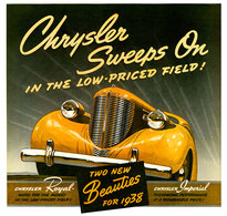 Chrysler Sweeps On In The Low-Priced Field! | Print Ads