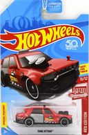 Time Attaxi | Model Cars | Hot Wheels 50th Anniversary Red Edition Time Attaxi
