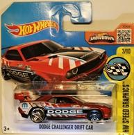 Dodge Challenger Drift Car   Model Racing Cars    Hot Wheels Dodge Drift Car (HW Speed Graphics) 2016 International Short Card