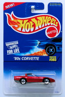 '80s Corvette | Model Cars | HW 1996 - Collector # 503 - '80s Corvette - Metal Flake Red - 5SP - USA Blue & White Card