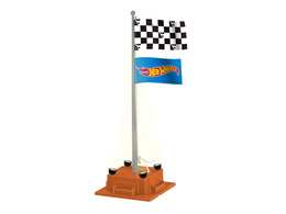 Plug-Expand-Play Hot Wheels Checkered Flagpole | Diorama Accessories