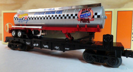 406500 Eastwood Automobilia Hot Wheels Racing Flatcar w/Tanker  | Model Trains (Rolling Stock)