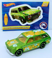 '71 Datsun Bluebird 510 Wagon | Model Cars | HW 2018 - Mystery Models Series 3 01/12 - '71 Datsun Bluebird 510 Wagon - Green - Gold CHASE - Walmart Exclusive