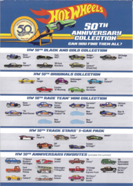 Hot Wheels 50th Anniversary Collection Flyer   Brochures & Catalogs