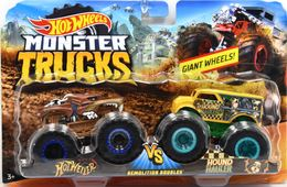 Hotweiler VS Hound Hauler | Model Vehicle Sets | Hot Wheels Monster Trucks Hotweiler vs Hound Hauler