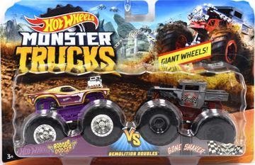 Rodger Dodger VS Bone Shaker | Model Vehicle Sets | Hot Wheels Monster Trucks Rodger Dodger vs Bone Shaker