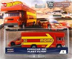 Porsche 962 - Fleet Flyer | Model Vehicle Sets | Hot Wheels Team Transport Porsche 962 and Fleet Flyer Momo