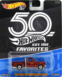 '78 Dodge Li'l Red Express Pickup | Model Trucks | Hot Wheels 50th Anniversary Favorites '78 Dodge Li'l Red Express Truck Without Front Turn Signals