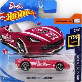 '14 Corvette Stingray | Model Cars | Hot Wheels HW Screen Time Barbie '14 Corvette Stingray