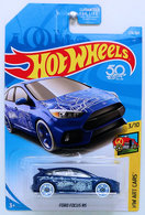 Ford Focus RS   Model Cars   HW 2018 - Collector # 276/365 - HW Art Cars 3/10 - Ford Focus RS - Blue - USA 50th Card