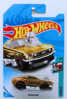 '68 Mustang    Model Cars   HW 2018 - Super Treasure Hunts - Tooned 5/5 - '68 Mustang - Spectraflame Dark Gold - Real Riders - International Long Card