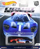 '16 Ford GT Race | Model Racing Cars | Hot Wheels 50th Anniversary Car Culture Circuit Legends '16 Ford GT Race