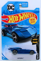 Batmobile | Model Cars | HW 2019 - Collector # 017/250 - Batman 2/5 - Batmobile - Blue - USA Card