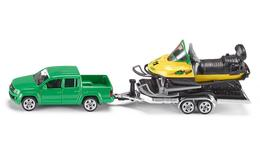 Volkswagen Amarok With Trailer And Snowmobile | Model Vehicle Sets