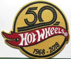 50th Anniversary Hot Wheels 1968-2018 Patch | Pins & Badges | Hot Wheels 50th Anniversary Patch 2018 - 32nd Annual Collectors Convention