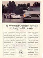 The 1990 world champion mercedes is history. its v 8 lives on. print ads 946696ac f306 49a7 bf1e 8a1ff5014826 medium