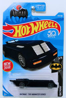 Batman: The Animated Series | Model Cars | HW 2018 - Collector # 359/365 - Batman 3/5 - Batman: The Animated Series (Batmobile) - Midnight Blue- USA 50th Card