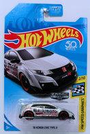 '16 Honda Civic Type R | Model Cars | HW 2018 - ZAMAC # 017 - HW Speed Graphics 2/10 - '16 Honda Civic Type R - ZAMAC - USA 50th Card - Walmart Exclusive