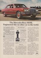 The Mercedes-Benz 450SE. Engineered Like No Other Car In The World. | Print Ads