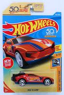 Rise 'N Climb | Model Cars | HW 2018 - Collector # 360/365 - HW 50th Race Team 8/10 - Rise 'N Climb - Orange - USA 50th Card