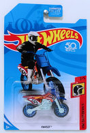 HW450F | Model Motorcycles | HW 2018 - Collector # NONE - HW Daredevils 3/5 - HW450F - Red - USA 50th Card