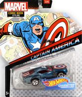 Captain America | Model Cars | Hot Wheels Marvel Comics Captain America Comic Book Styling