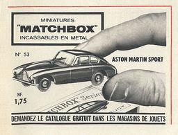"Miniatures ""Matchbox"" Incassables En Metal | Print Ads"
