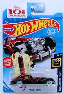 Cruella De Vil | Model Cars | HW 2018 - Super Treasure Hunts - HW Sceen Time 9/10 - Cruella De Vil - Spectrflame Dark Red - USA 50th Card