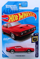 '71 Mustang Mach 1 | Model Cars | HW 2019 - Collector # 002/250 - HW Screen Time 4/10 - '71 Mustang Mach 1 - Red - USA Card with 007 Logo