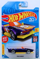 Track Manga | Model Cars | HW 2018 - Collector # 295/365 - HW Sports 10/10 - New Model - Track Manga - Purple - USA 50th Card with 'Special Feature' Tab - ERROR No Side Tampos
