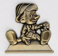 Pinocchio Golden Statue Pin | Pins & Badges