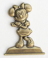 Minnie Mouse Golden Statue Pin | Pins & Badges