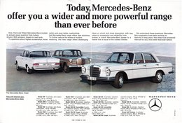 Today, Mercedes-Benz Offer You A Wider And More Powerful Range Than Ever Before | Print Ads