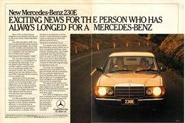 New Mercedes-Benz 230E | Print Ads