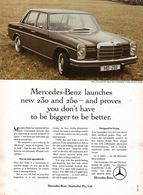 Mercedes-Benz Launches New 230 And 250 ― And Proves You Don't Have To Be Bigger To Be Better. | Print Ads