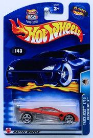HW Prototype 12   Model Cars   HW 2003 - Collector # 143/220 - Track Aces 2/10 - HW Prototype 12 - Orange - USA '1968-2003 Anniversary' Card