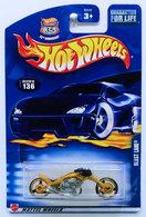 Blast Lane | Model Motorcycles | HW 2003 - Collector # 136/220 - Blast Lane - Metallic Gold - USA '35th Anniversary' Card