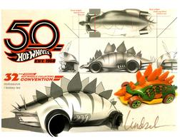32nd Annual Hot Wheels Collectors  Convention Autograph Sheets | Posters & Prints | Hot Wheels 32 Annual Collectors Convention Motosaurus Lindsey Lee