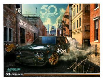 32nd Annual Hot Wheels Collectors  Convention Autograph Sheets | Posters & Prints | Hot Wheels 32nd Annual Collectors Convention '71 Datsun 510 Wagon Leeway Chang