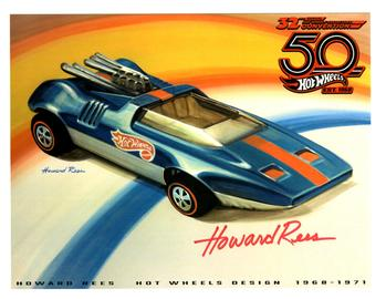 32nd Annual Hot Wheels Collectors  Convention Autograph Sheets | Posters & Prints | Hot Wheels 32nd Annual Collectors Convention Peepin Bomb Howard Rees