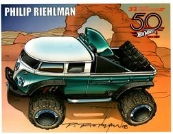 32nd Annual Hot Wheels Collectors  Convention Autograph Sheets | Posters & Prints | Hot Wheels 32nd Annual Collectors Convention Volkswagen T1 Rockster Philip Riehlman