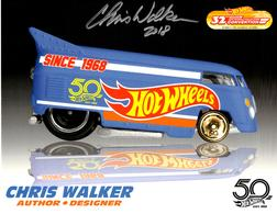 32nd Annual Hot Wheels Collectors  Convention Autograph Sheets | Posters & Prints | Hot Wheels 32nd Annual Collectors Convention Drag Bus Chris Walker