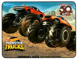 32nd Annual Hot Wheels Collectors  Convention Autograph Sheets | Posters & Prints | Hot Wheels 32nd Annual Hot Wheels Collectors Convention Monster Trucks Jeremy Cox