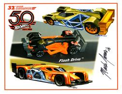 32nd Annual Hot Wheels Collectors  Convention Autograph Sheets | Posters & Prints | Hot Wheels 32nd Annual Collectors Convention Flash Drive Mark Jones