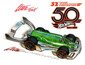 32nd Annual Hot Wheels Collectors  Convention Autograph Sheets | Posters & Prints | Hot Wheels 32nd Annual Collectors Convention Carbonator Alton Takeyasu
