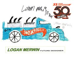 32nd Annual Hot Wheels Collectors  Convention Autograph Sheets | Posters & Prints | Hot Wheels 32nd Annual Collectors Convention Hand Drawn Vehicle Logan Merwin