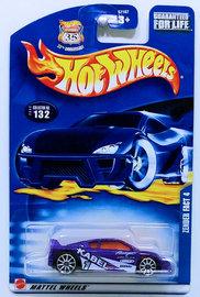 Zender Fact 4   Model Cars   HW 2003 - Collector # 132/220 - Zender Fact 4 - Metallic Purple - USA '35th Anniversary' Card