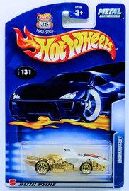Sharkruiser   Model Cars   HW 2003 - Collector # 131/220 - Sharkruiser - Pearl White - USA '1968-2003 Anniversary' Card