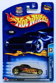 Sooo Fast | Model Cars | HW 2003 - Collector # 130/220 - Wastelanders 1/10 - Sooo Fast - Flat Black - USA '1968-2003 Anniversary' Card