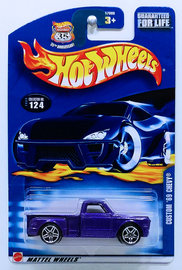 Custom '69 Chevy | Model Trucks | HW 2003 - Collector # 124/220 - Custom '69 Chevy - Metallic Purple - Red Taillights - China - USA '35th Anniversary' Card